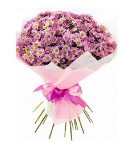 Букет из розовых хризантем...