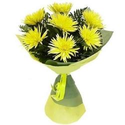 Букет из желтых хризантем...