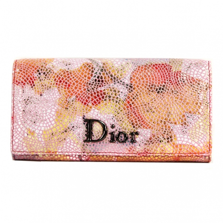 Women's Wallet Coral, Genuine Leather (Large Size 18.5 X 9 cm)
