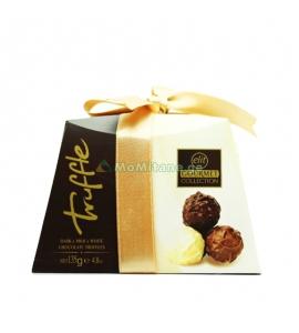 135 გრ. ტრუფელი, რძიანი შოკოლადის ასორტი, ნაკრები Elit ელიტი, სასაჩუქრე შეფუთვა
