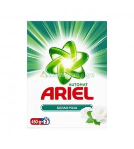"""450 გრ. ავტომატი სარეცხი ფხვნილი, თეთრი ვარდი, სარეცხი ფხვნილები """"პარაშოკი"""" არიელი, ARIEL, მწარმოებელი თურქეთი"""