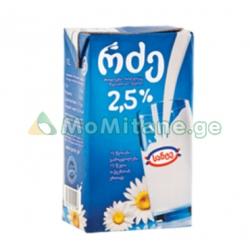 1 ლ. რძე , სანტე 2,5%....
