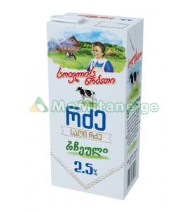 1 ლ. 2,5 % რძე , სოფლის ნობათი, ნატურალური, რჩეული, პასტერიზებული, რძეები, რძის ნაწარმი.