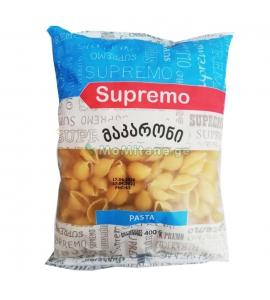 400 გრ. მაკარონი, ნიჟარები, პასტა , სპაგეტი , სუპრემო, მაკარონები , Supremo.