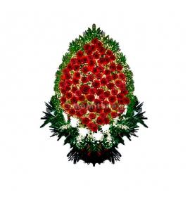 Ритуальная композиция из георгин и роз
