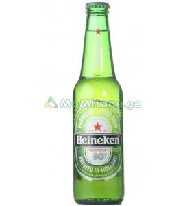 330 მლ. ლუდი, ჰეინეკენი, HEINEKEN, შუშის ქილა. ალკოჰოლური სასმელები, ,, პივა '' Пиво  , Beer