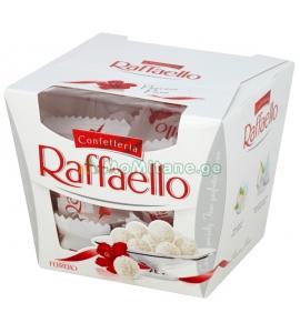 150 გრ. ბონბონერი რაფაელო ( 15 ცალი ) Raffaelo, ტკბილეული. ქოქოსით და ნუშით , ბამბანერკა .