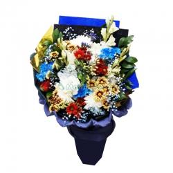 """ყვავილების თაიგული  """" ლურჯი..."""