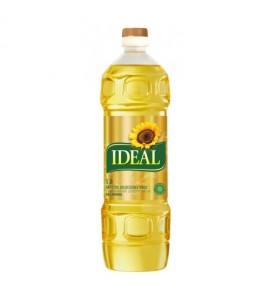1ლ. მზესუმზირის ზეთი 100% , რაფინირებული, იდეალი,  IDEAL