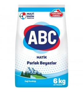 """6კგ. ავტომატი თეთრი ქსოვილის სარეცხის ფხვნილი, სარეცხი ფხვნილები """"პარაშოკი"""" ABC, აბეცე, აბც."""
