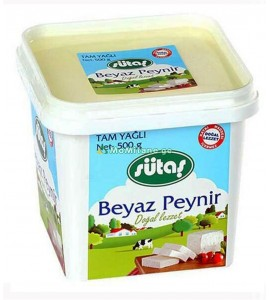 500 გრ. ყველი გაწურული, თეთრი ყველი Sütaş სუტაში, რძის ნაწარმი
