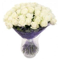 """Букет роз """"Белый Лебедь"""""""