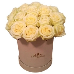 """Букет белых роз """"Герда"""""""